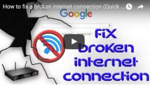 How to fix a broken internet connection (Quick & EASY)