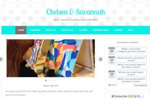 Website Design For Chelsea and Savannah Art School in Fort Mill, SC