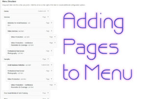 Beginner WordPress Website Design – Adding Pages to Menus